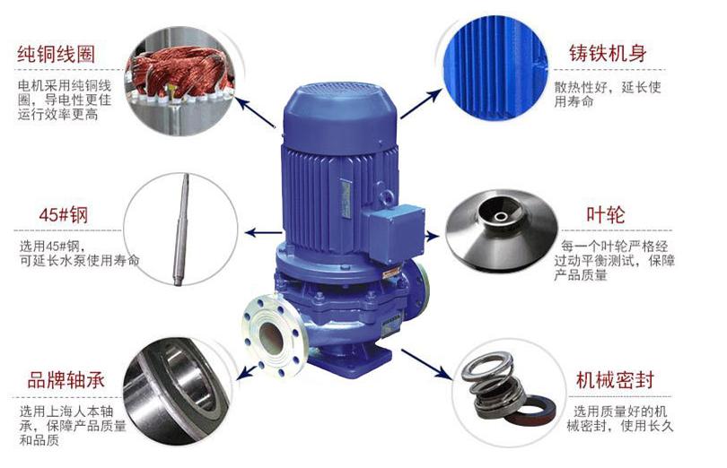 IHG不锈钢管道离心泵实物分解图